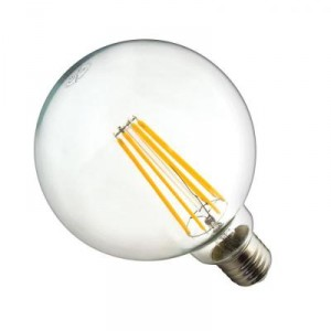 LED žárovka 10W 8xCOS Filament E27 1250lm CCD TEPLÁ BÍLÁ